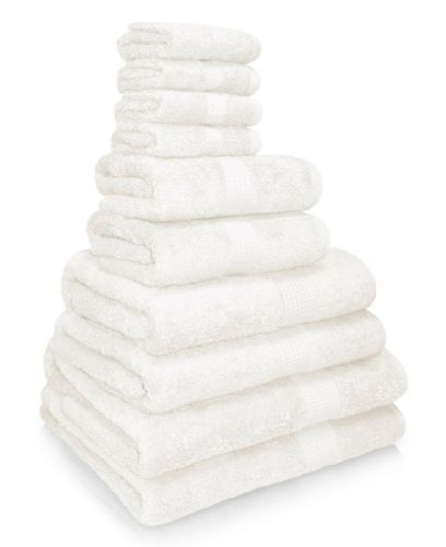 100% EGYPTIAN COMBED COTTON SUPER SOFT 650gms HOTEL QUALITY TOWELS WHITE COLOUR